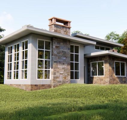 проект дома в стиле лайт