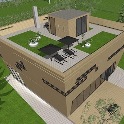 Проект дома функционализм с плоской крышей