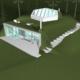 Проект дома в стиле экотек с газоном на крыше